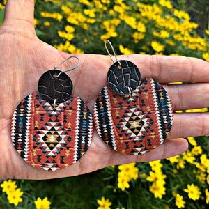 Leather Southwest Style Earrings